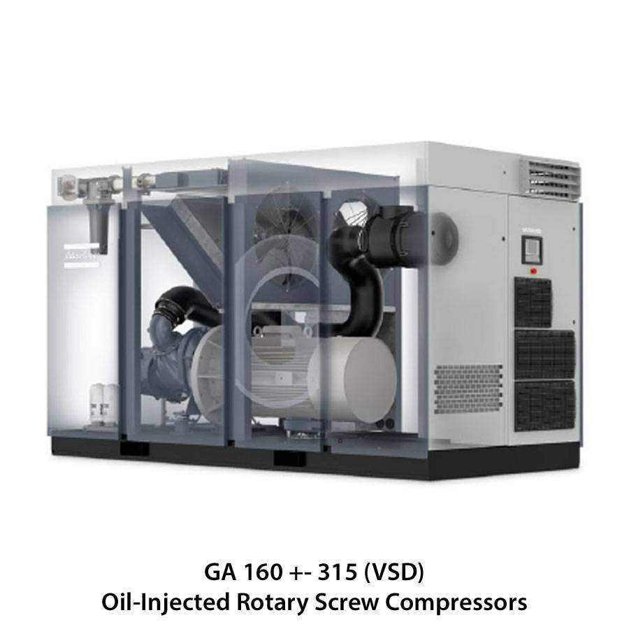 Atlas Copco Oil Injected Rotary Screw Compressors Ease