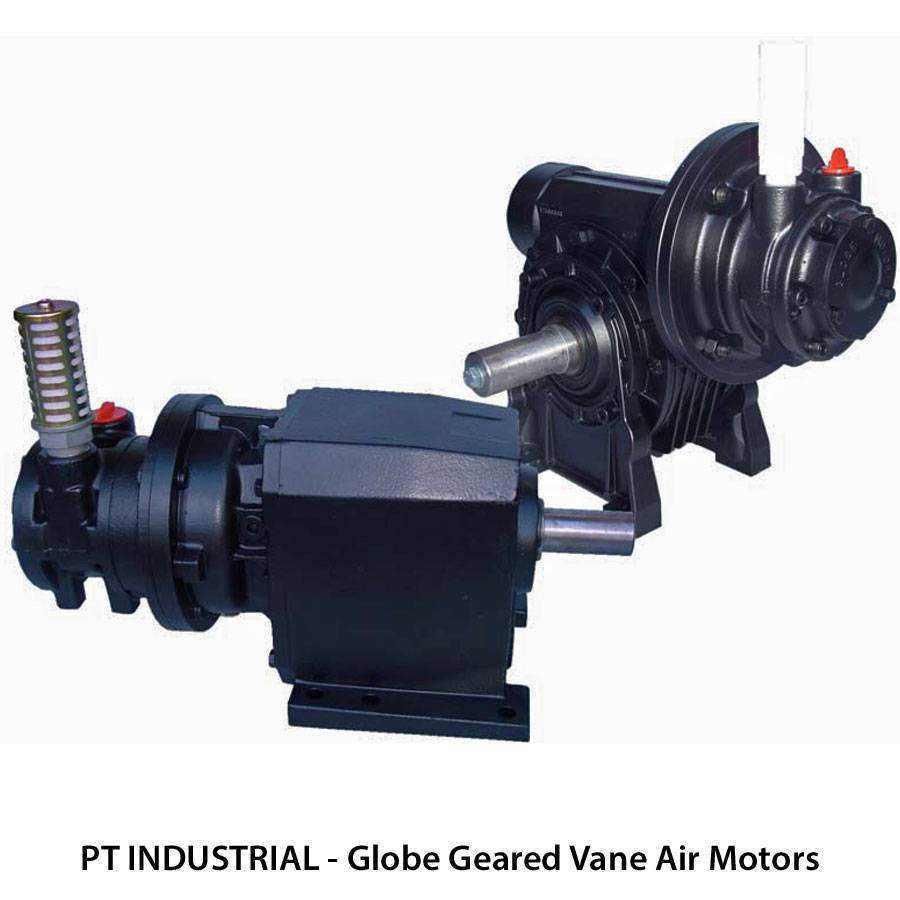 Globe Geared Vane Air Motors Ease